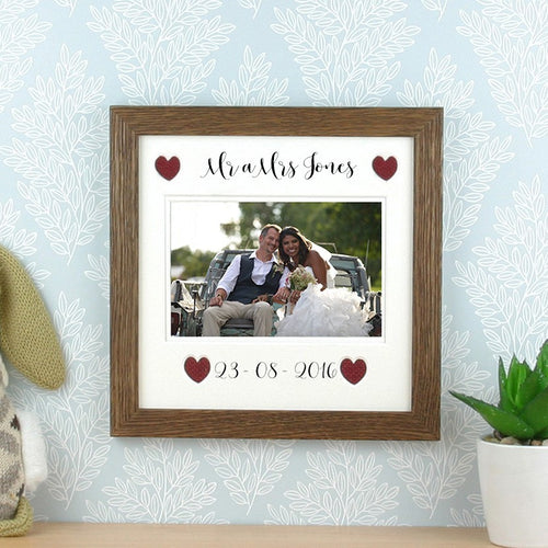 Mr a Mrs Frame (Customisable Surname & Date).