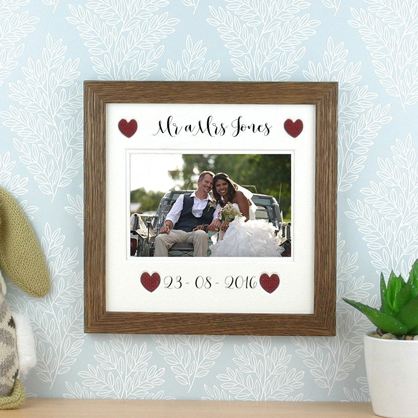 mr a mrs frame customisable surname date y stryd fach - Mr And Mrs Photo Frame