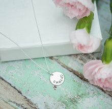 "Hand Stamped Silver ""Cariad' Necklace"