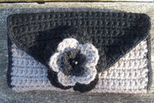 Hand Crocheted Clutch Bag (With Optional Flower Brooch)