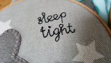 Embroidered Applique Hoop for Baby Nursery