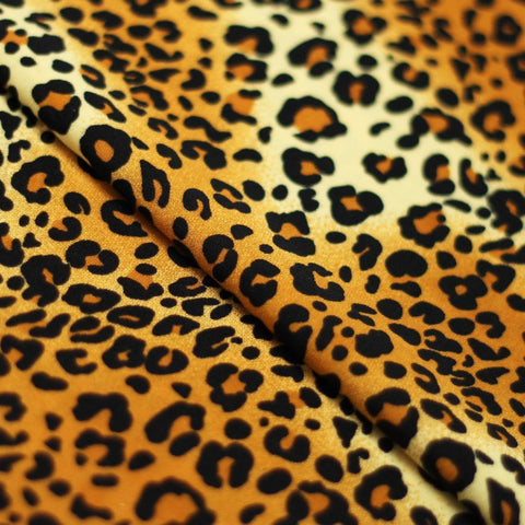 Wild Leopard 4-Way Stretch Print | For Swimwear, Yoga pants, Leggings | 84% Poly, 16% Spandex - Rex Fabrics L.A.