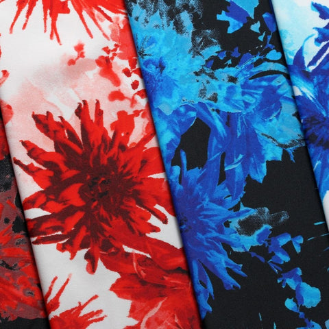 Moulin Rogue 4-Way Stretch Print | For Swimwear, Yoga pants, Leggings | 82% Nylon, 18% Spandex - Rex Fabrics L.A.