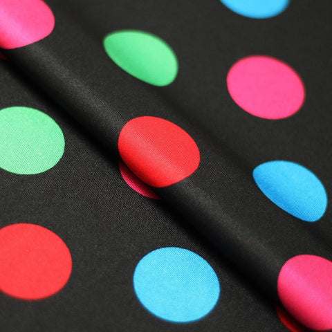 Circus Dots 4-Way Stretch Print Fabric | Swimwear, Athletic wear, Activewear, Yoga pants, Leggings | 82% Poly, 18% Spandex Tricot - Rex Fabrics L.A.