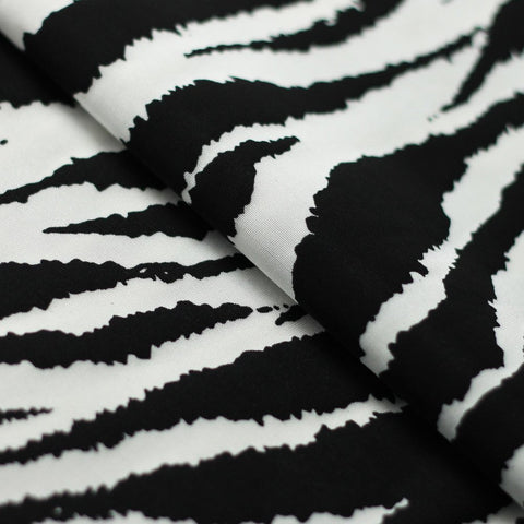 Zebra 4-Way Stretch Print | For Swimwear, Yoga pants, Leggings | 80% Nylon, 20% Spandex - Rex Fabrics L.A.