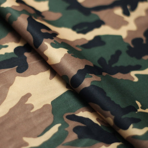 Camo Classic 4-Way Stretch Print Fabric | For Swimwear, Athletic wear, Activewear, Yoga pants, Leggings | 84% Poly, 16% Spandex - Rex Fabrics L.A.