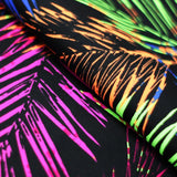 Electric Tropics 4-Way Stretch Print | For Swimwear, Yoga pants, Leggings | 80% Nylon, 20% Spandex - Rex Fabrics L.A.