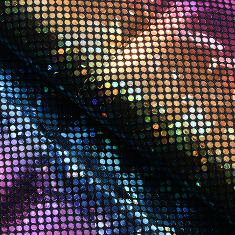 B'Dazzled Hologram Tricot Fabric | %80 Nylon %20 Spandex | For Dancewear, Gymnastics, Costumes - Rex Fabrics L.A.