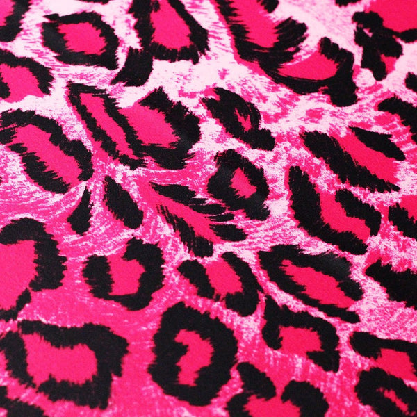 Leopard Animal 4-Way Stretch Print | Swimwear, Yoga pants, Leggings | 82% Poly, 18% Spandex - Rex Fabrics L.A.