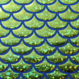 Monster Mermaid Hologram Nylon Spandex | For Swimwear, Activewear, Dancewear, Gymnastics - Rex Fabrics L.A.