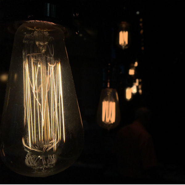 Vintage Light Bulb Close Up