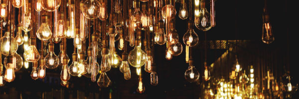 Warm Amber Glow Vintage Bulbs