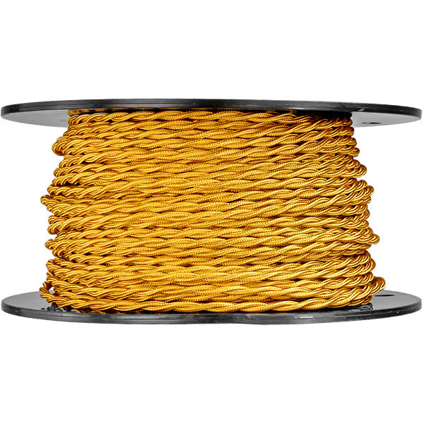 Cloth covered 20 gauge wire twisted 20 awg fabric lamp cord gold twisted lamp cord 20 gauge greentooth Gallery