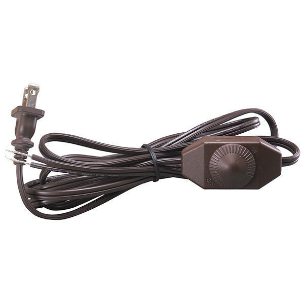 Brown Parallel Cord set with Full Range dimmer switch - 11 ft.