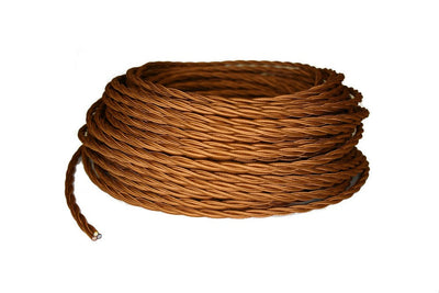 3 Conductor Bronze Twisted Rayon Covered Cord - Per Foot