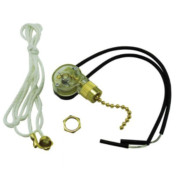 Pull Chain On/Off Canopy Switch - Brass