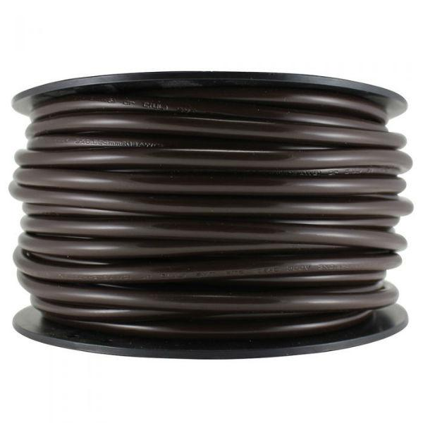 Pendant Brown Round 3 Conductor Cord- 100 FT. Spool
