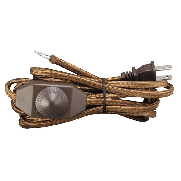 Brown Cord set with In-Line Full Range Dimmer