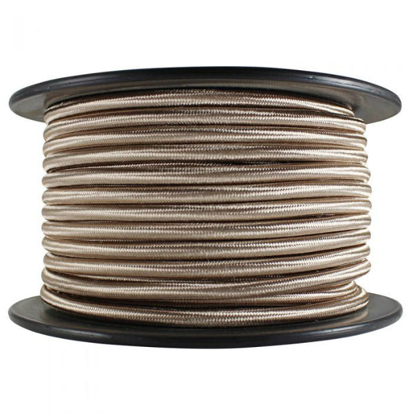 SVT-2 Champagne Color Cloth Covered Cord - 100 ft. Spool