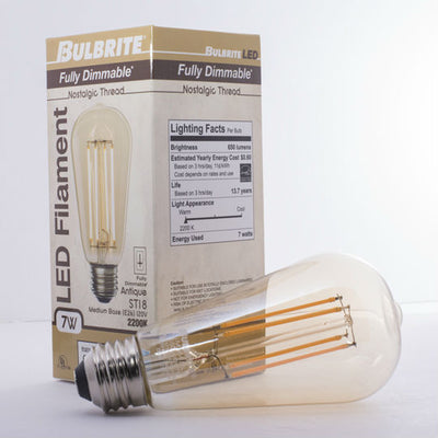 Fully Dimmable Edison LED Bulb
