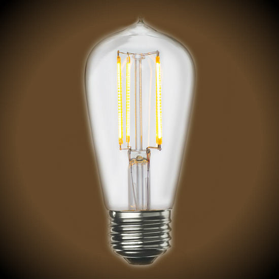 led filament vintage clear glass light bulb dimmable 2700k