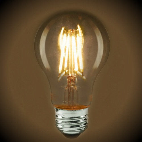 LED Filament Light Bulb - A19 Vintage - 6.5 Watt - Clear - 2700K - 810 Lumens