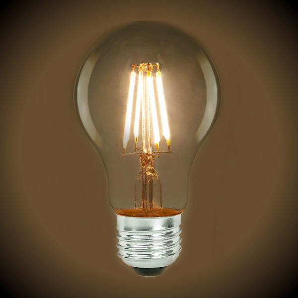 LED Filament Light Bulb - A19 Vintage - 7 Watt - Clear - 2700K - 800 Lumens