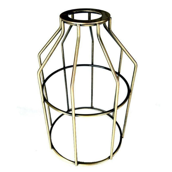 Antique Brass Light Bulb Cage - Guard for UNO Sockets