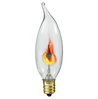 Flicker Flame - CA-10 - Clear - 3 Watt - ADL