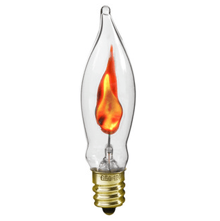 Flicker Flame - CA-6 - Clear - 3 Watt - ADL