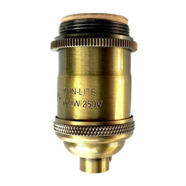 Antique Brass Finish Socket With Uno Threads And Ring