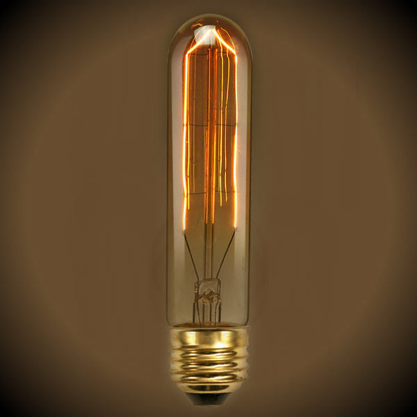 Tubular Nostalgic Light Bulb - 40 Watt- 5.5 in. Length - Clear