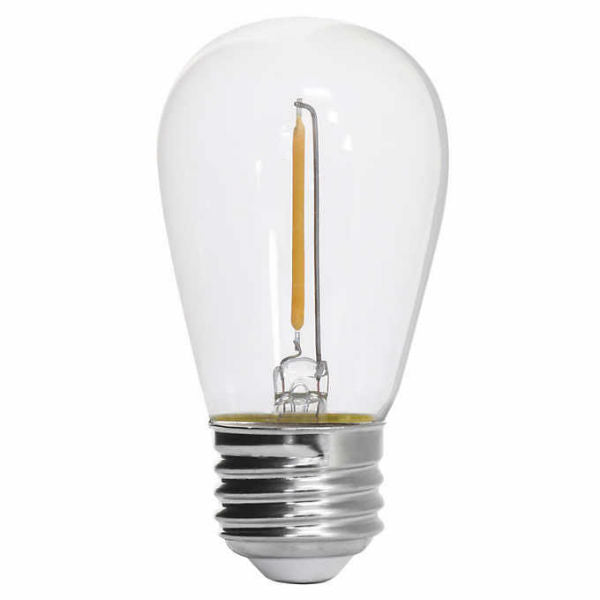 LED Filament S14 Bulb - 1 Watt - 50 Lumens - 2200K - 26-Pack