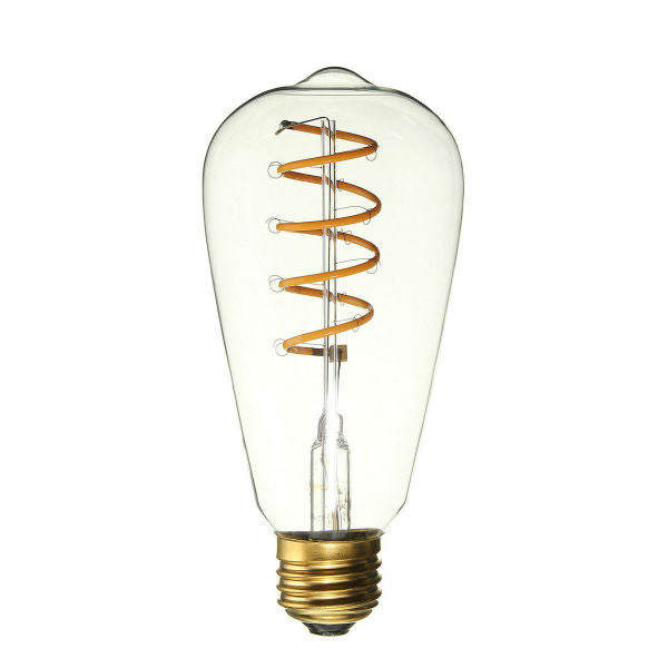 Curved LED Spiral Filament Edison Bulb - 4 Watt - 2200K