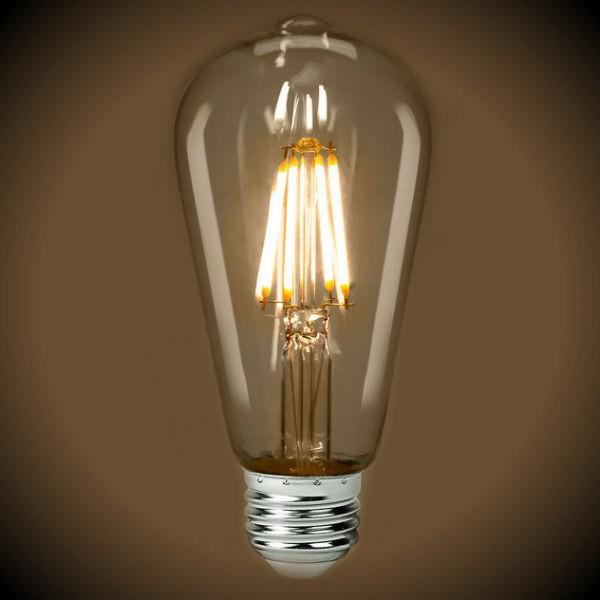 LED Filament Edison Light Bulb - ST19 Vintage - 4 Watt - Clear - 2700K