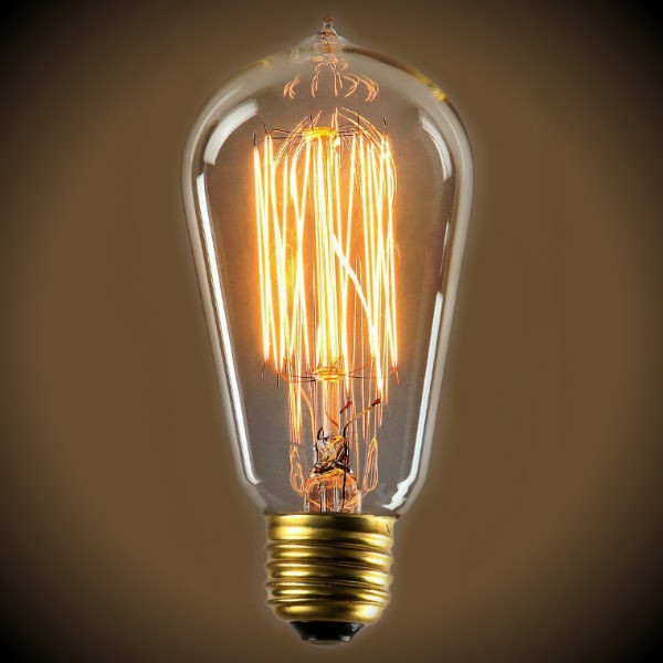 Edison 40 Watt Vintage Antique Light Bulb - 4.95 in. Length - Clear