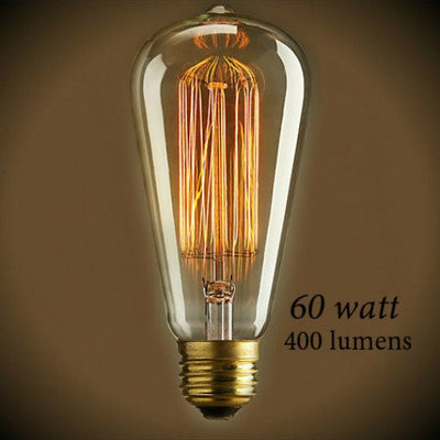 Edison Style - Vintage Antique Squirrel cage Filament Bulb 60 Watt