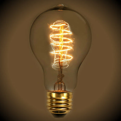 Spiral Filament A19 Nostalgic Light Bulb