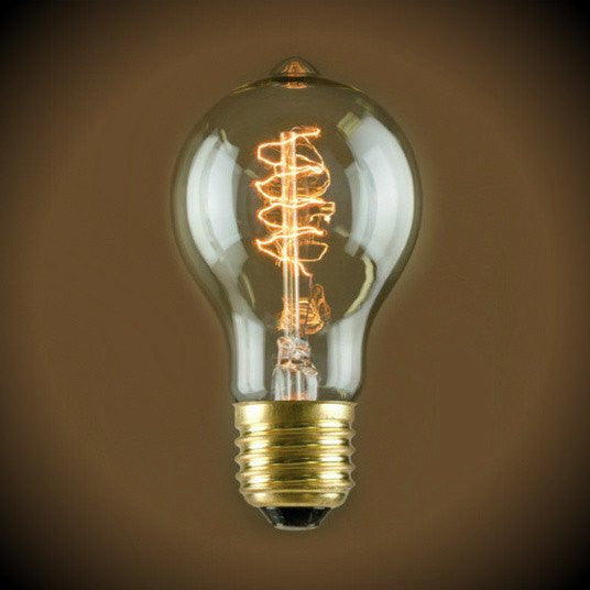 Nostalgic Spiral Filament A19 Vintage Light Bulb 60 Watt