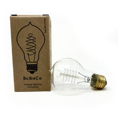 Vintage Spiral Filament A19 Nostalgic Light Bulb - 40 Watt - Clear