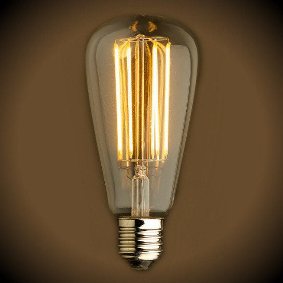 LED Filament Edison Light Bulb - ST21 Vintage - 4 Watt - Amber - 2200K