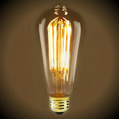 LED Filament Edison Light Bulb - ST19 Vintage - 4 Watt - Amber - 2200K