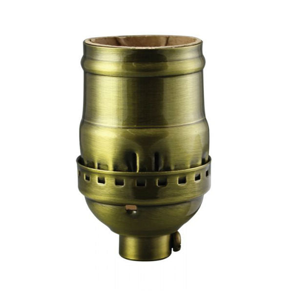 Antique Brass Finish ove Solid Brass Light Socket