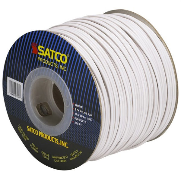 White Lamp Wire SPT-1  18/2 105 degrees - 250 ft. spool