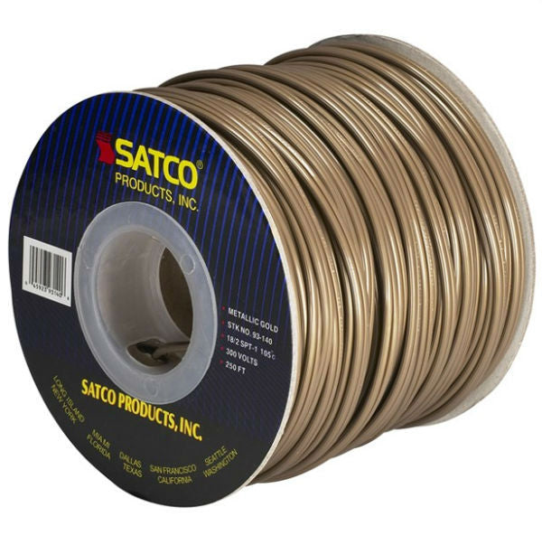 Antique Gold SPT Lamp Cord - 250 ft. Spool