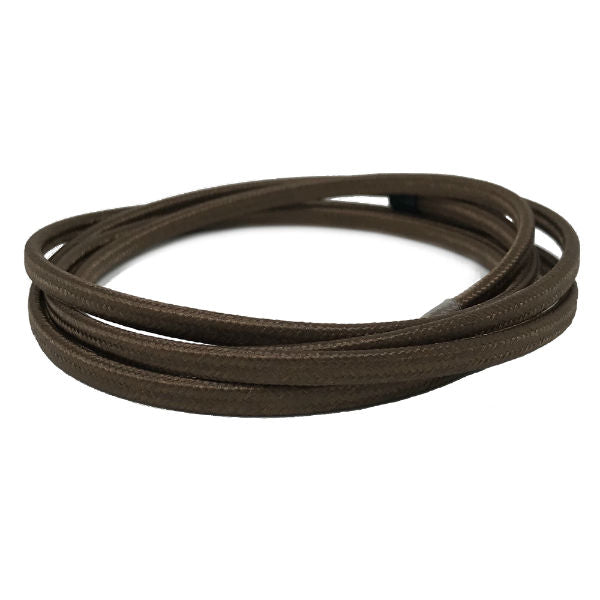 Brown Parallel cloth covered wire- Per ft.