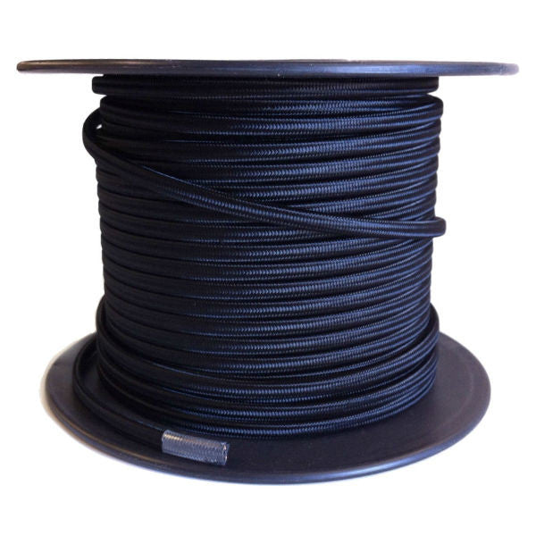 Black Cloth-Covered Parallel (Flat) Cord - 100 foot spool