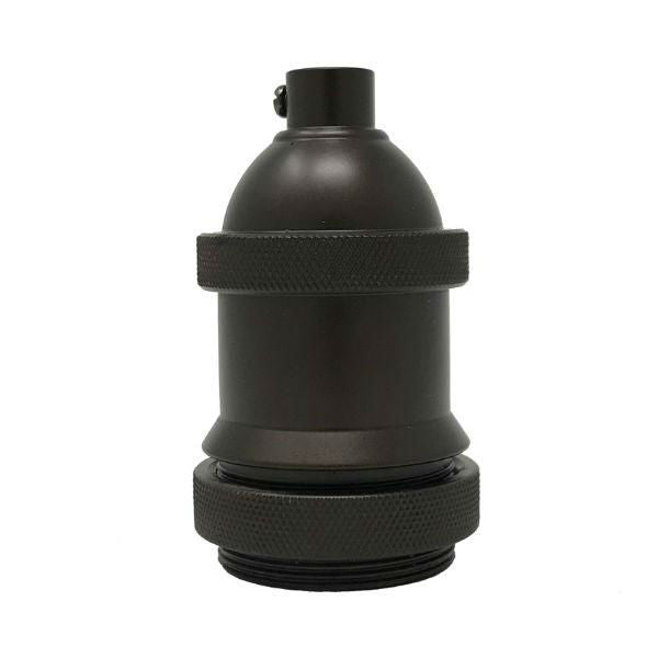 Heavy Cast Medium Base Socket Cover - Bronze
