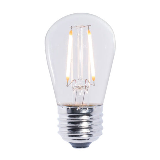 Standard LED Filament S14 Shape Bulb   2 Watt