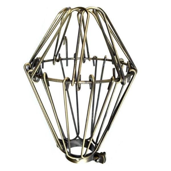 Antique Brass Small Wire Lamp Guard - Cage